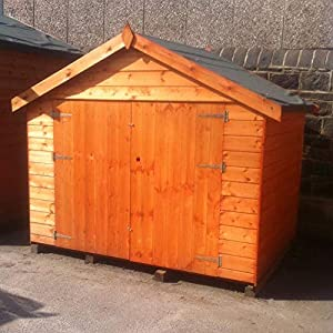 Pinelap 7x4 Apex Bike Shed Tongue and Groove
