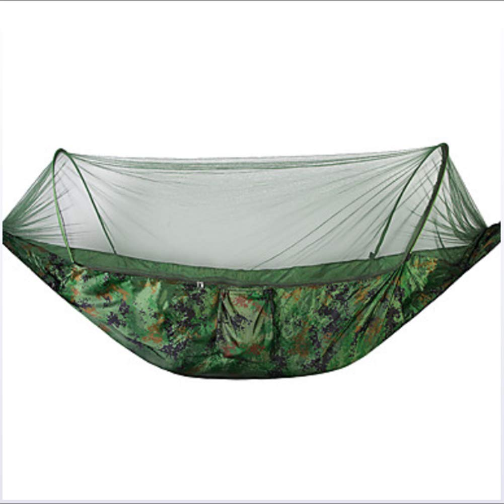 AFFC Camping Hammock with Mosquito Net Outdoor Breathability Polyster for 1 Person Hiking/Camping,3