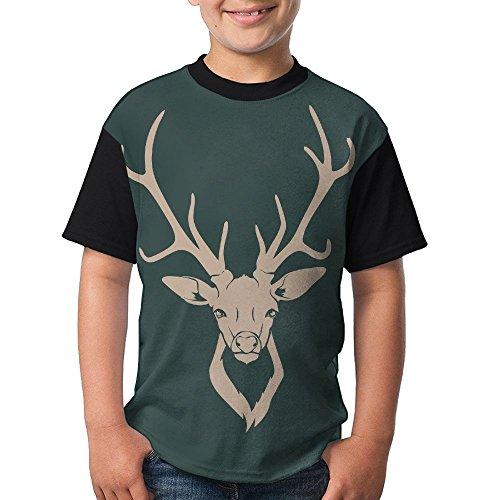 Oh-Deer Teenager T Shirt Teen Short Sleeve Running