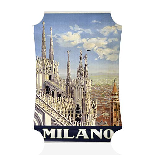 Aluminum Metal Wall Decor Milano Vintage Style B Vertical Poster Picture Photo Print Wall Art - Berlin Shape, 15