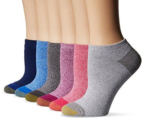 Gold Toe Women's 6-pack Sport Cushion No Show Sock Marled Mix Shoe Size: - Show Cushion Socks