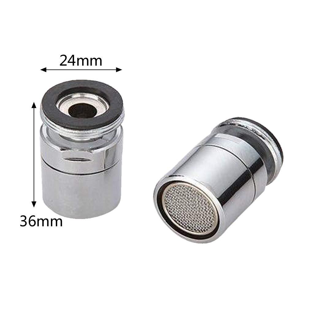1 a/érateur de robinet en laiton pivotant /à 360 degr/és.