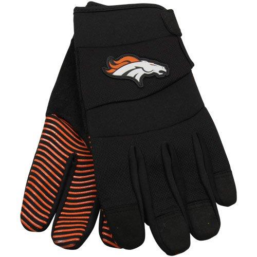 NFL McArthur Denver Broncos Black Deluxe Utility Work Gloves
