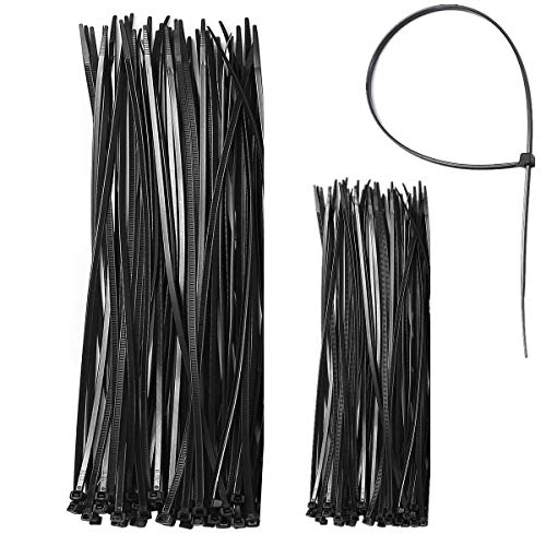Plastic Zip Ties Nylon Ties (100 Pack?For Cable Cord Wire Heavy Duty Ultra Strong Tensile Strength Adjustable Durable Self Locking Black