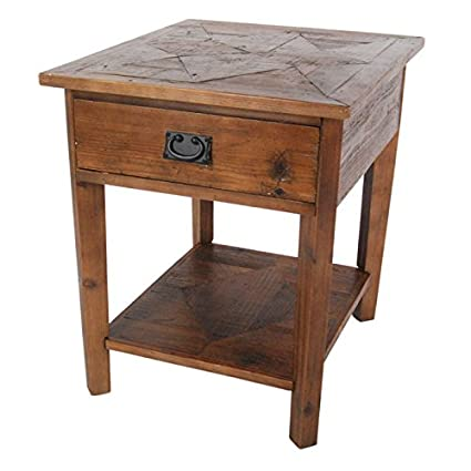Alaterre Furniture Revive   Reclaimed End Table   Natural