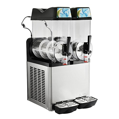 Happybuy Slushy Machine 12Lx2 Tanks Frozen Drink Machine 400W Commercial Smoothie Maker Slushy Making Machine Suitable for Commercial Use (12L x 2 Tank)