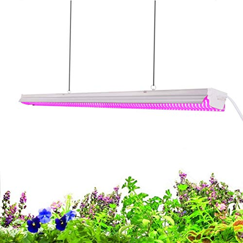 SUNVIE 60W 4FT Plant Growth Light - LED Integrated Lamp Fixture Plug and Play - Full Spectrum for Indoor Plants Flowers Growing