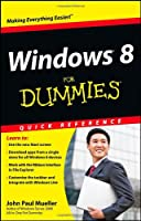 Windows 8 For Dummies Quick Reference Front Cover