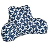 Majestic Home Goods Links Reading Pillow, Navy Blue