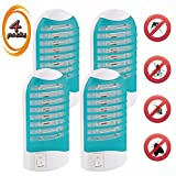 Bug Zapper, Gnat Trap 110V, Electronic Bug Zapper Indoor Bug Zapper Electronic Insect Killer Eliminates Most Flying Pests, Mosquito & Insect Killer (4 packs)