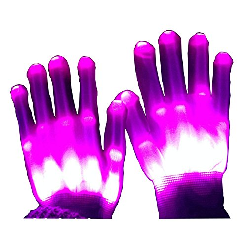 Led Skeleton Hand Gloves, Knit Gloves Party Light Show Gloves For Clubbing, Birthday, Disco, Halloween Cosplay Costume, Novelty Christmas -