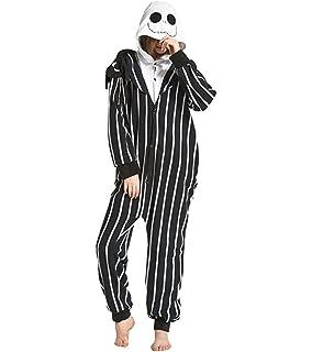fdb47c5e7a Tri-Better Jack Skellington Onesie Anime Pajamas Hooded Kigurumi Unisex  Cosplay Costumes