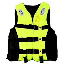 Mounchain Youth PFD Life Vest Watersport Classic Boat Jacket with a Whistle Yellow M