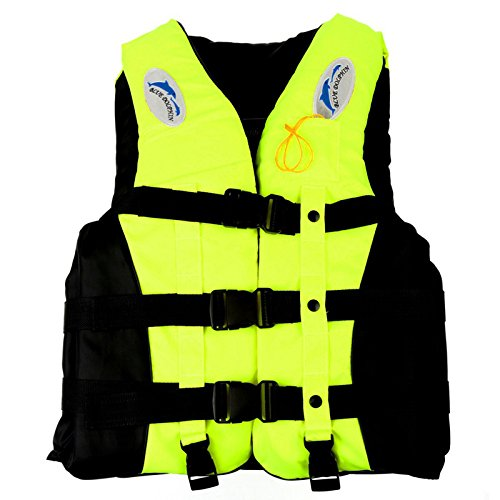 Mounchain Life Vest Jacket Water Sports for Unisex Adults Children PDF Yellow XXL