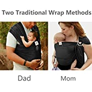 Summer Baby Sling,Water Baby Body Wrap Carrier for Mom and Dad,Boys and Girls,Black