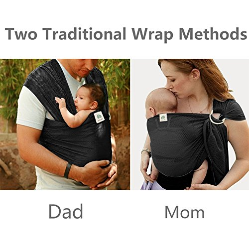 Summer Baby Sling,Water Baby Body Wrap Carrier for Mom and Dad,Boys and Girls,Black by Belopo