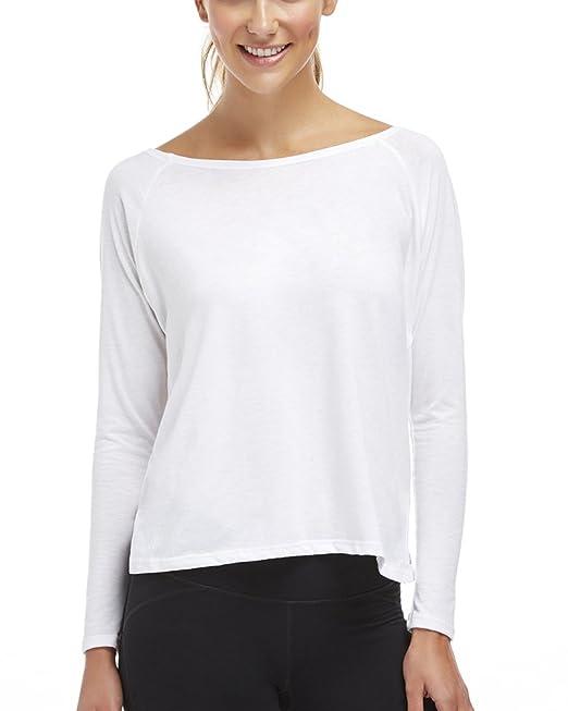 Ropa para Yoga Camiseta Deportiva Gimnasio Manga Larga Espalda Descubierta para Mujer Blanco XL: Amazon.es: Ropa y accesorios