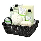 Bath Gift for Women, Body & Earth Spa Basket Gifts for Her, Lily 10pc Set Includes Bubble Bath, Body Lotion, Shower Gel, Body Mist, Bath Salt, Massage Soap and More, Best Gift Idea for Women