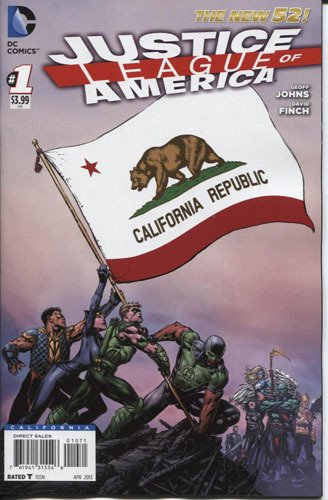 Justice League of America #1 California Flag Variant Cover Comic Book by DC Comics