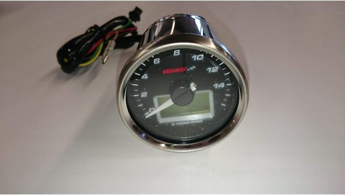 KOSO D55 GP Style Drehzahlmesser//Thermometer max. 16000 U//min//max. 150 C/°