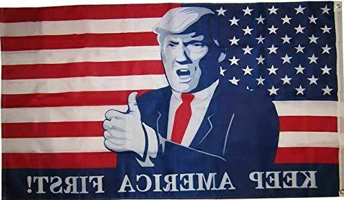 Kaputar 3x5 Trump Thumbs Up USA 2020 Keep America First! MAGA 3x5 Flag | Model FLG - - 1st Confederate Flag