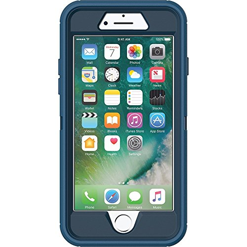 OtterBox DEFENDER SERIES Case for iPhone 8 & iPhone 7 (NOT Plus) - Retail Packaging - BESPOKE WAY (BLAZER BLUE/STORMY SEAS BLUE)