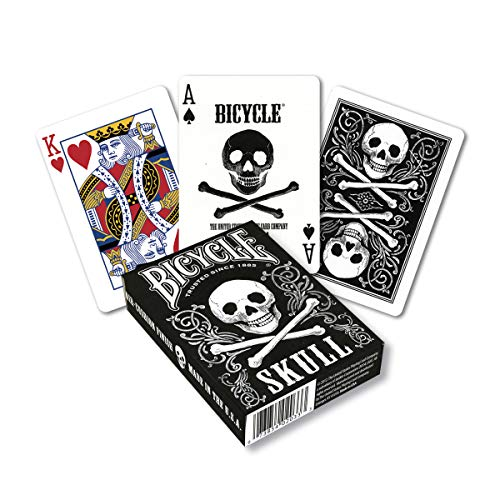 (Bicycle Skull Poker Size Standard Index Playing Cards)