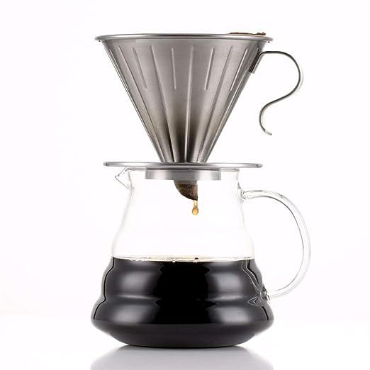 ANJUYA - Filtro de goteo de café estilo V60 para motor de acero ...