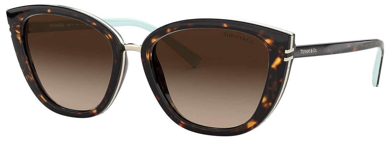 f721b71fbd74 Tiffany   Co. TF 4152 Brown Gradient Cat-Eye Sunglasses for Women 80053B   Amazon.co.uk  Clothing