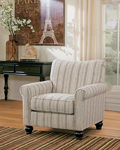 Signature Design by Ashley Milari Linen/Maple Striped Accent Chair
