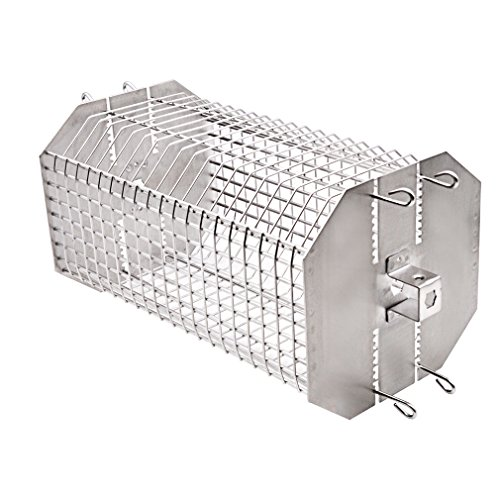 - only fire Universal Octagonal Tumble & Flat Basket Rotisserie Grill Spit Rod Basket Fits for Any Grill