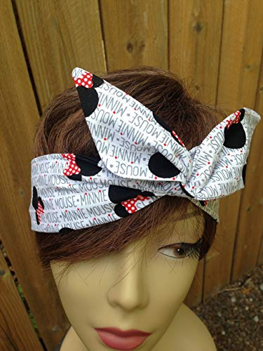 Dolly Bow Christmas Red Wire Headband