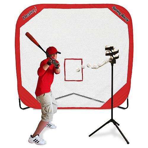 Heater Sports Big League & Spring Away Pro 7x7 Pop-up Net by Heater Sports