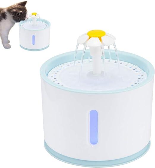 ABEDOE Fuente de Agua para Mascotas, Fuente de Agua Silencioso ...