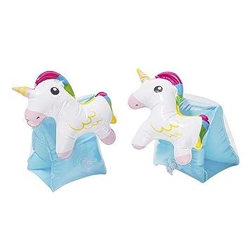 2 Par Brazaletes Inflables Infantiles Unicornio Niños ...
