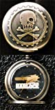 Space Pirate Captain Harlock High Qiality Pocket Watch - Type-C Spaceship Arcadia Logo. Imported from Japan.