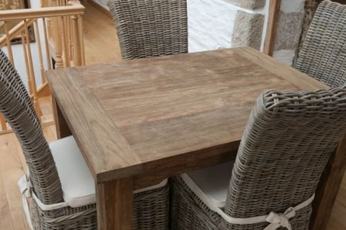 1 2 M En Teck Recycle Naturel Taplok Table A Manger 4 Chaises En