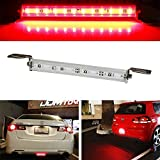 iJDMTOY (1) Universal Fit Brilliant Red 12-SMD LED Light Bar For Car As Rear Fog Light or 3rd Brake Tail Lamp