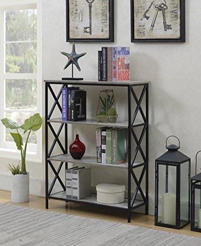 - Convenience Concepts 161844C1 4-Tier Bookcase, Faux Birch