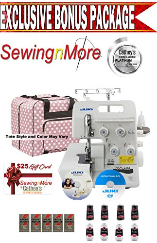 Juki Pearl Line MO-655 2/3/4/5 Thread Serger w/ Exclusive Platinum Series Bonus Package! by JUKI