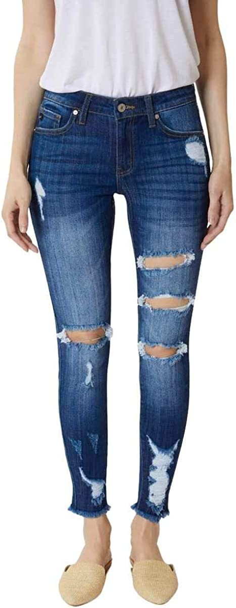 Kan Can Women S Mid Rise Ankle Skinny Jeans At Amazon Women S Jeans Store