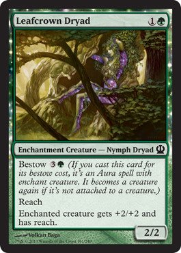 Amazon.com: Magic: the Gathering - Leafcrown Dryad - Theros - Foil