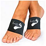 Foots Love. ❤ Plantar Fasciitis Arch Support - Compression Copper Braces/Sleeves. Walk fit Orthotics for Flat Feet, Heel Spurs and High Arch Pain. We Started The Trend and Still The Best (Black)