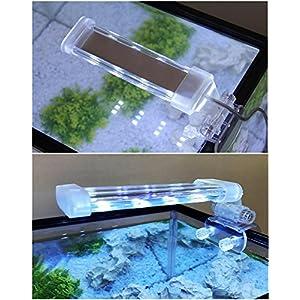 BPS® Lámpara de Acuario LED Iluminación Luces para Plantas Luz Blanco y Azul 2 Modelos para Elegir 4W/8W (4W: 150 x 40…