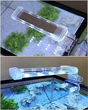 BPS® Lámpara de Acuario LED Iluminación Luces para Plantas Sumergible Luz Blanco y Azul 2