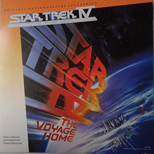 - Star Trek IV The Voyage Home Soundtrack LP Promotional Poster Fine Condition