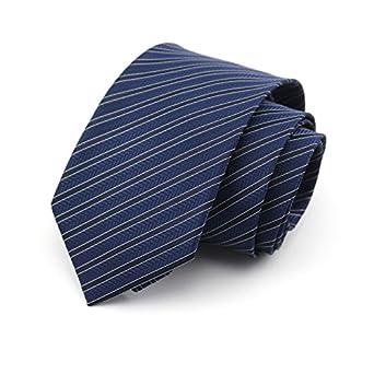 HXCMAN NeckTie 8cm azul marino Stripe diseño clásico hombres ...