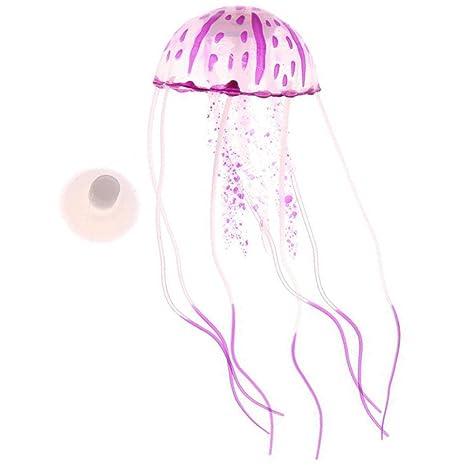 Amazoncom Nivalkid Aquarium Jellyfish Decoration Glowing