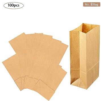 Bolsas de papel marrón para el almuerzo, bolsas de papel ...
