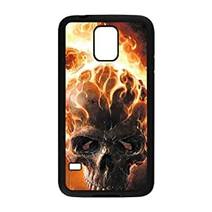 Samsung Galaxy S5 Case,Skull & Flame Hard Shell Case for Samsung Galaxy S5 Black Yearinspace071962